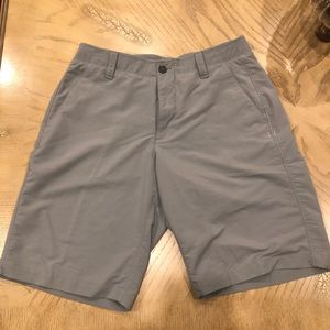 Charcoal Under Armour golf shorts!